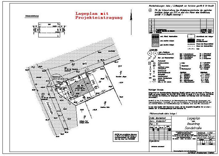 projekteintragung und abstandsflchenberechnung alles fr den bauantrag und baueingabeplne vom. Black Bedroom Furniture Sets. Home Design Ideas